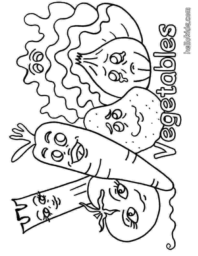 vegetables coloring vegetable coloring pages for childrens printable for free vegetables coloring