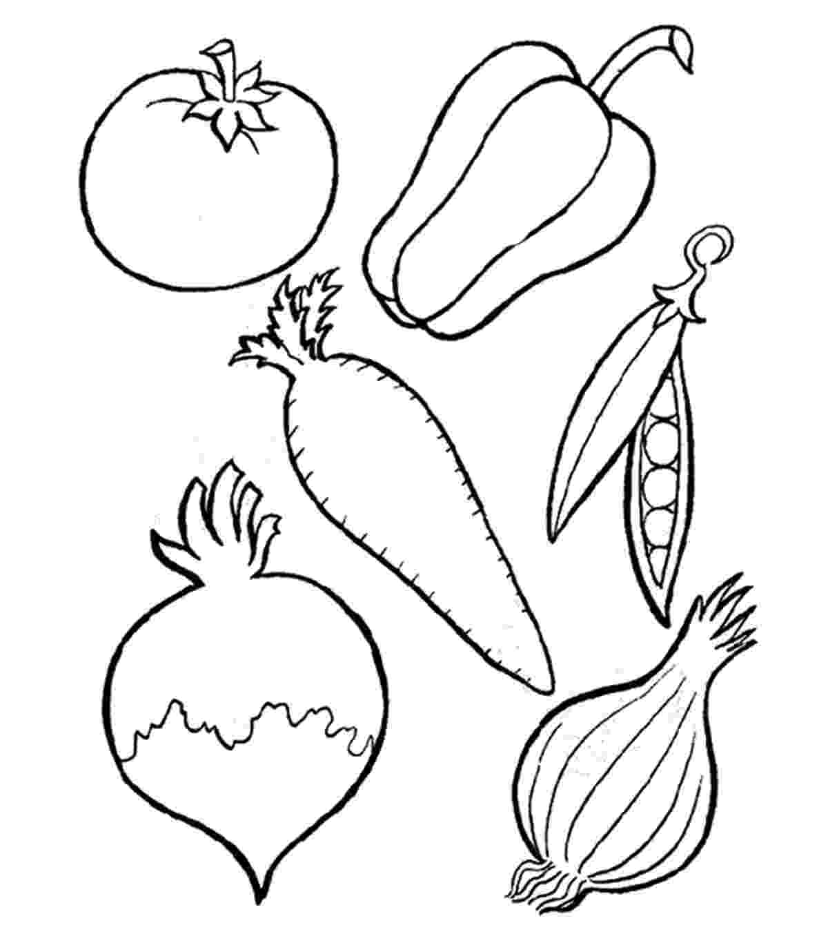 vegetables for colouring fruits and vegetables coloring pages momjunction for colouring vegetables