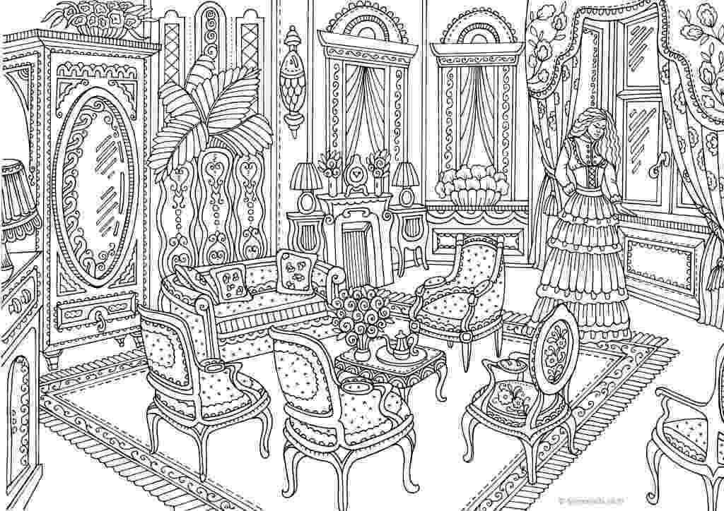 victorian coloring pages authentic architecture victorian interior printable coloring victorian pages