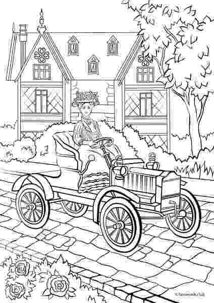 victorian coloring pages fashion and style victorian car printable adult pages coloring victorian