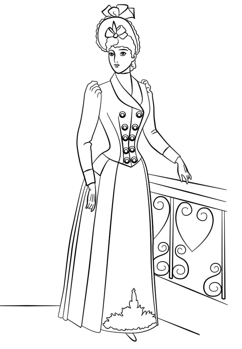 victorian coloring pages victorian winter fashion from exclusive victorian coloring victorian coloring pages