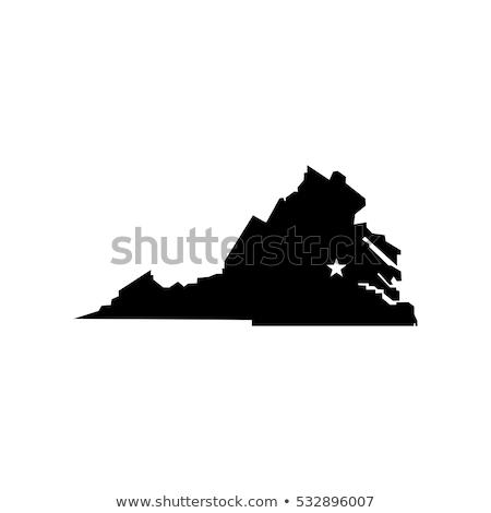 virginia vector black white virginia digital map with counties map virginia vector
