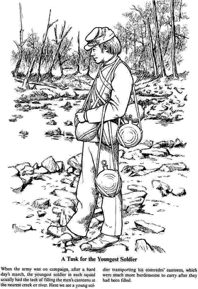 war coloring pages a soldier39s life in the civil war coloring page 5 of 5 coloring pages war