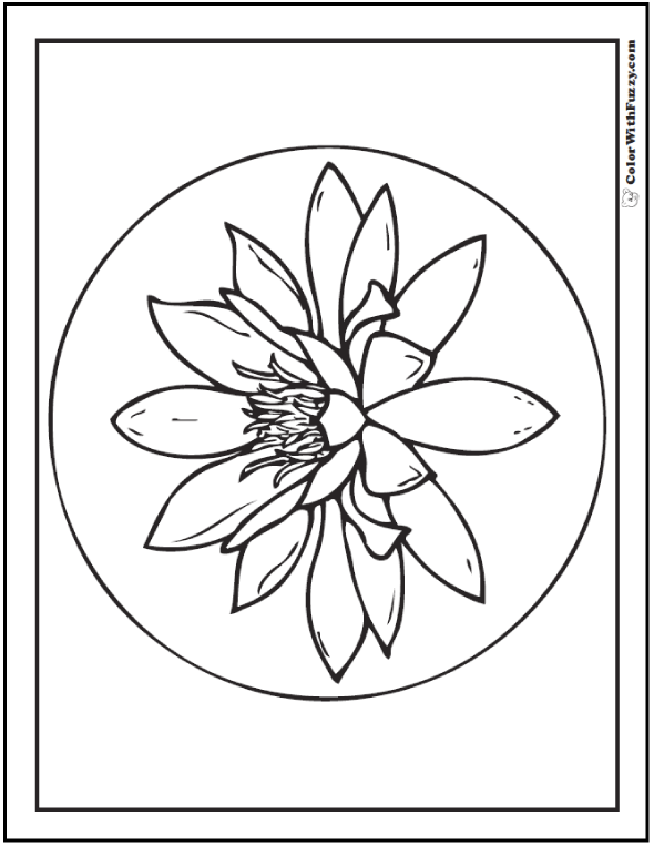 water lily coloring page flowers letmecolor water lily page coloring