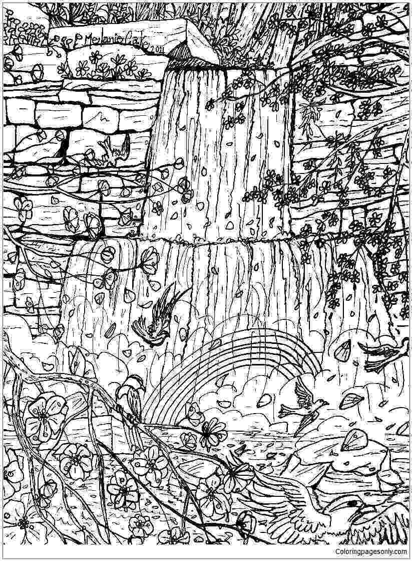 waterfall coloring page amazing waterfall coloring picture printable online coloring page waterfall