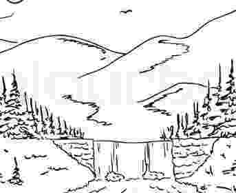 waterfall coloring page coloring pages for kids waterfall coloring pages for kids page coloring waterfall