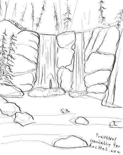 waterfall coloring page coloring pages for kids waterfall coloring pages for kids waterfall coloring page