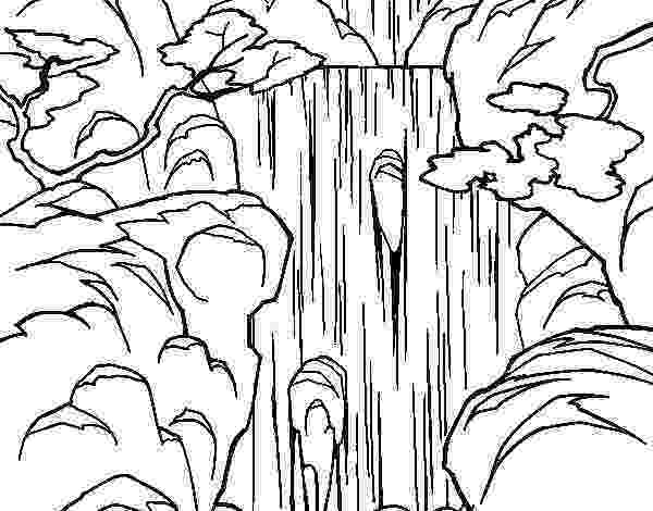 waterfall coloring page ponies and waterfall coloring pages hellokidscom page waterfall coloring