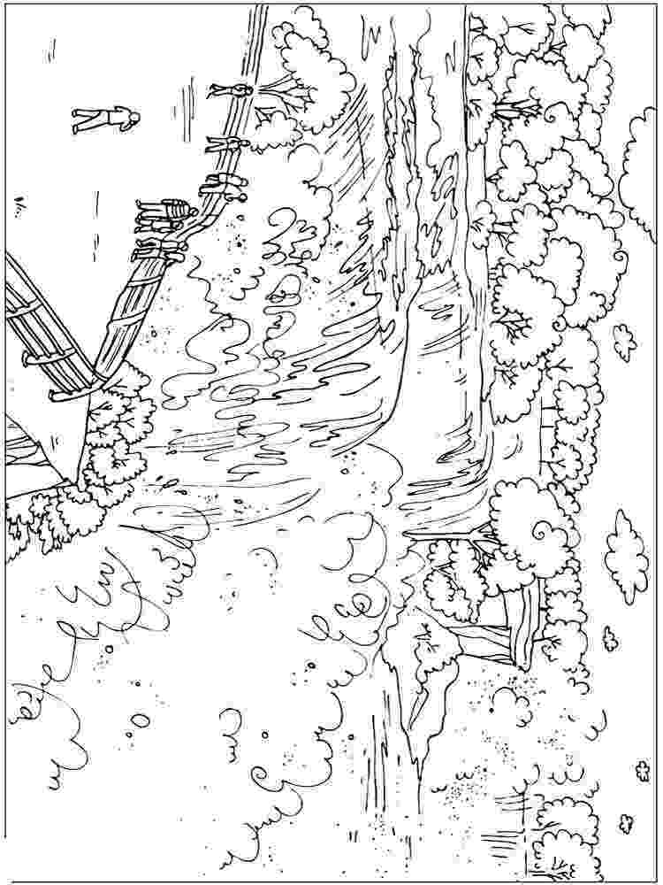 waterfall coloring page printable coloring page for the kids of a yosemite page waterfall coloring