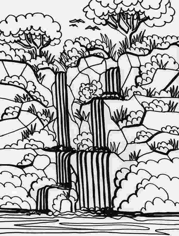 waterfall coloring page victoria falls coloring download victoria falls coloring coloring page waterfall