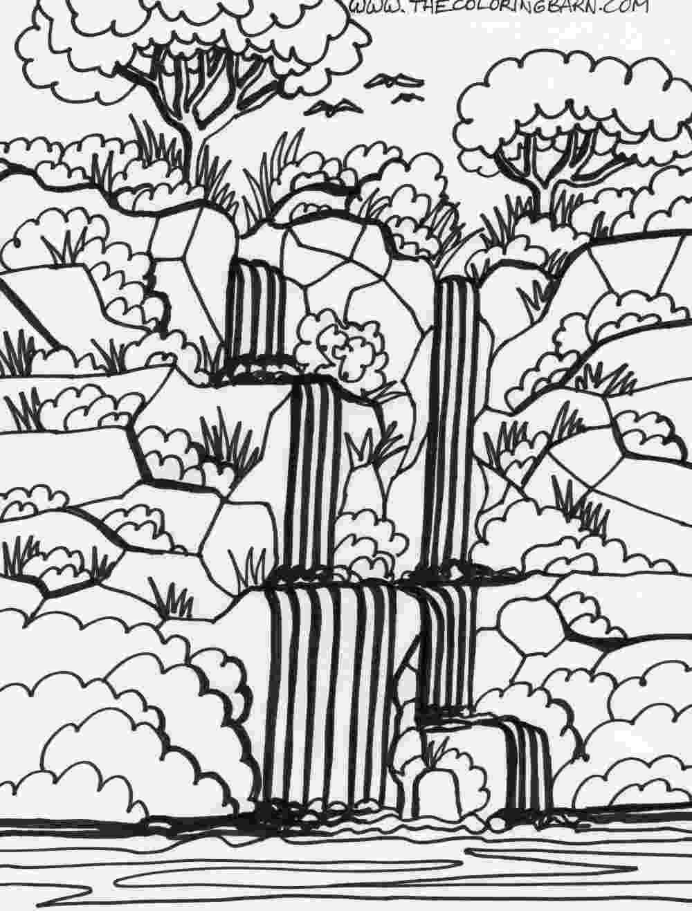 waterfall coloring page waterfall beautiful coloring page free coloring pages online coloring waterfall page