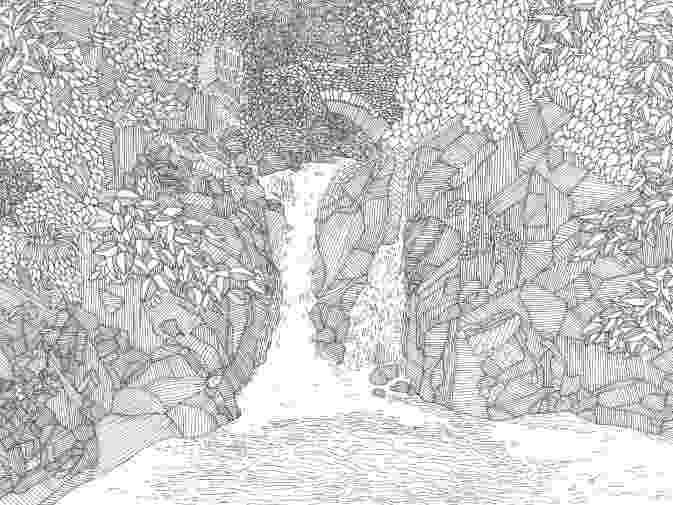 waterfall coloring page waterfall coloring page page waterfall coloring
