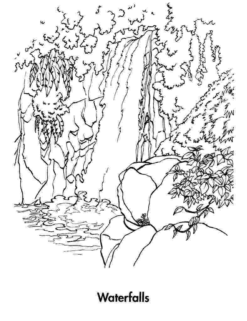 waterfall coloring page waterfall coloring pages coloring pages to download and waterfall coloring page