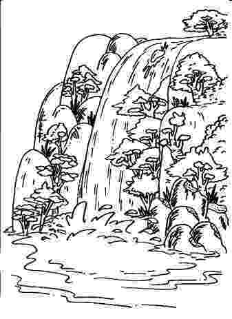 waterfall coloring page waterfall coloring pages coloring pages to download and waterfall page coloring