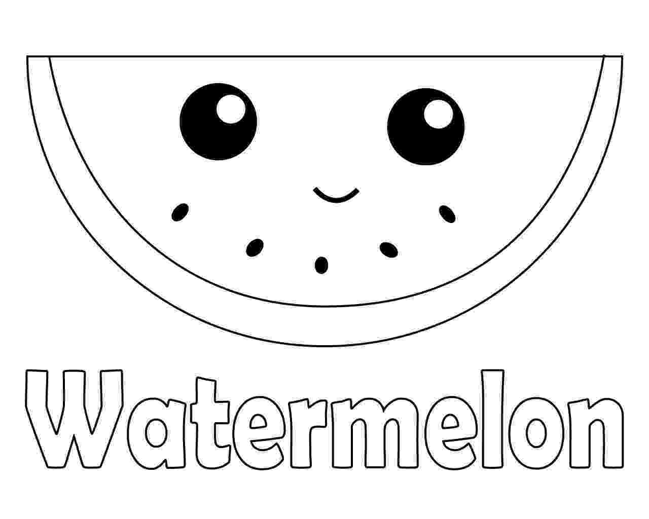 watermelon coloring sheets watermelon coloring pages getcoloringpagescom watermelon sheets coloring