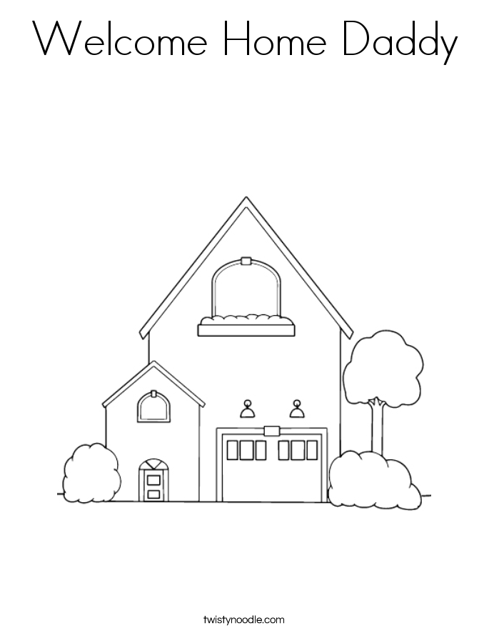 welcome home coloring pages free welcome home coloring pages coloring home home pages coloring welcome