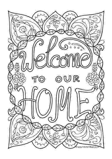 welcome home coloring pages welcome coloring pages to print and download coloring pages welcome home