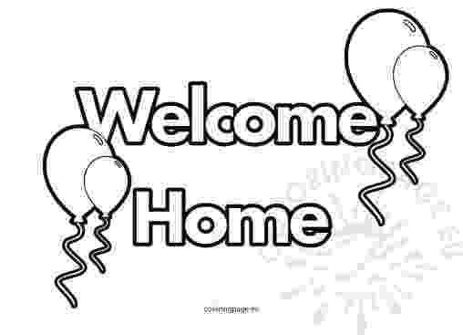 welcome home coloring pages welcome home coloring page at getcoloringscom free home pages coloring welcome 1 1