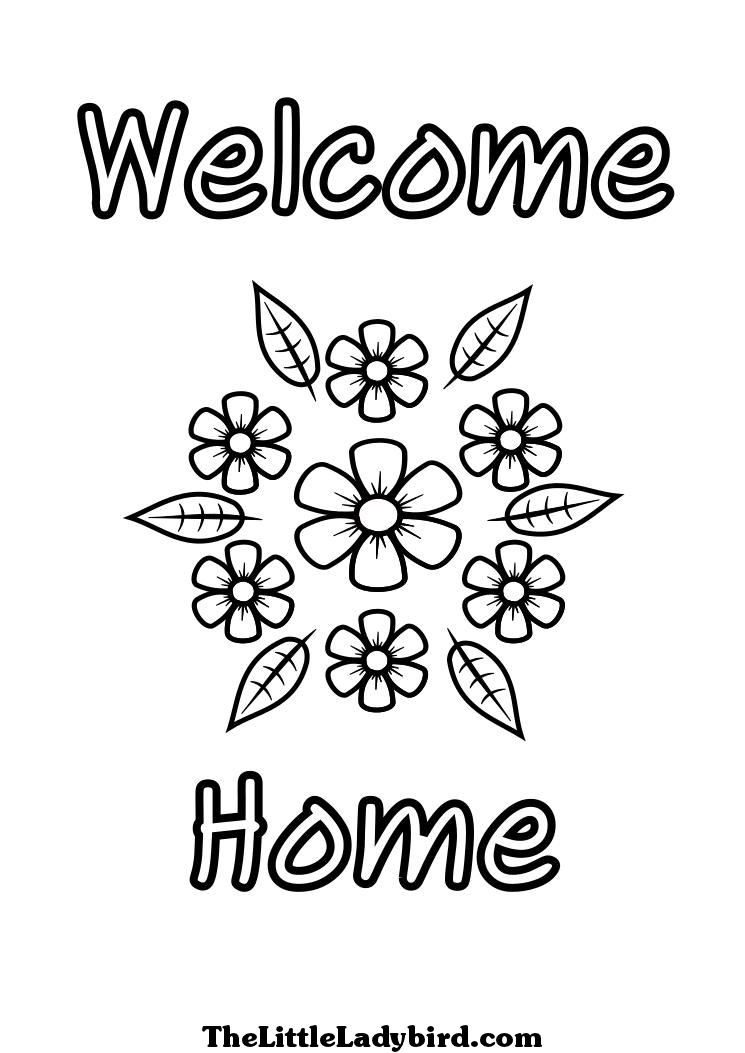 welcome home coloring pages welcome home coloring page twisty noodle welcome coloring pages home