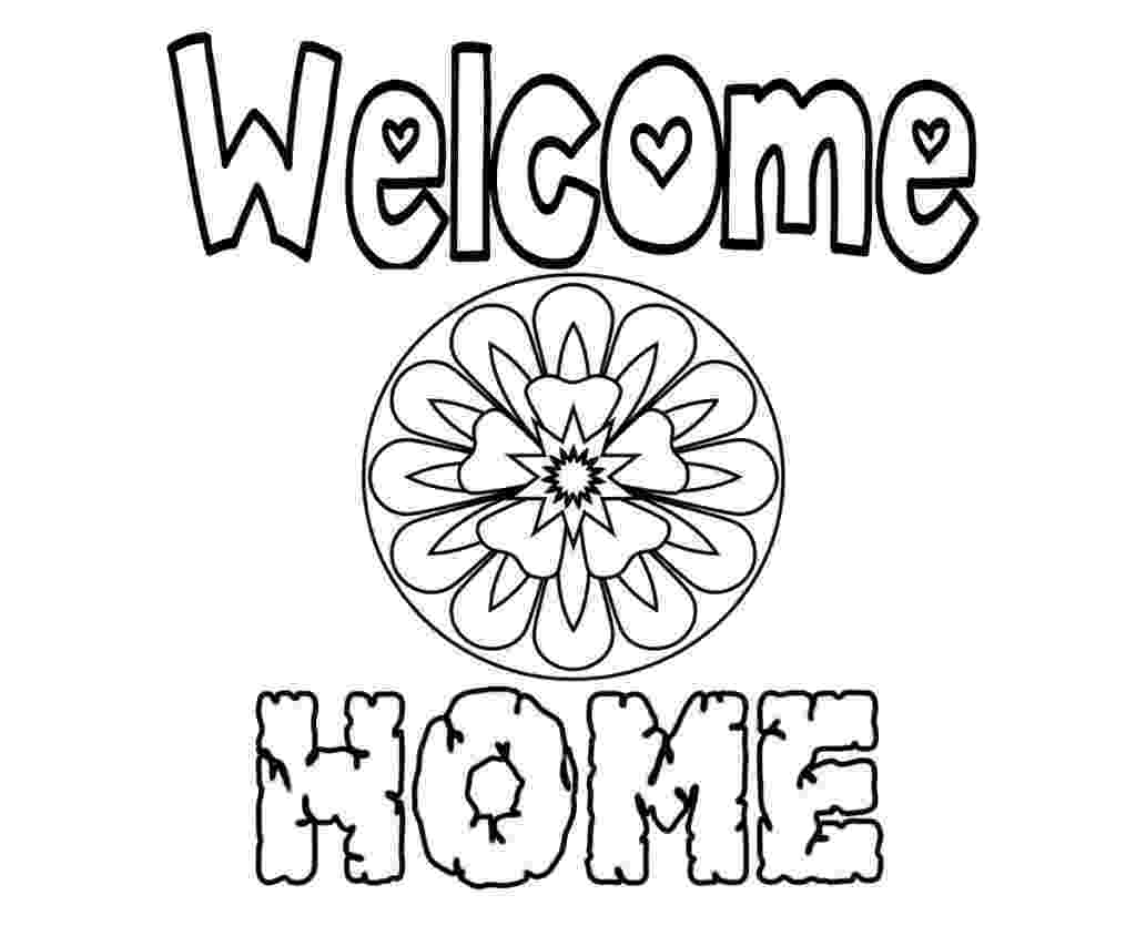 welcome home coloring pages welcome to our home colouring page coloring pages welcome home coloring pages