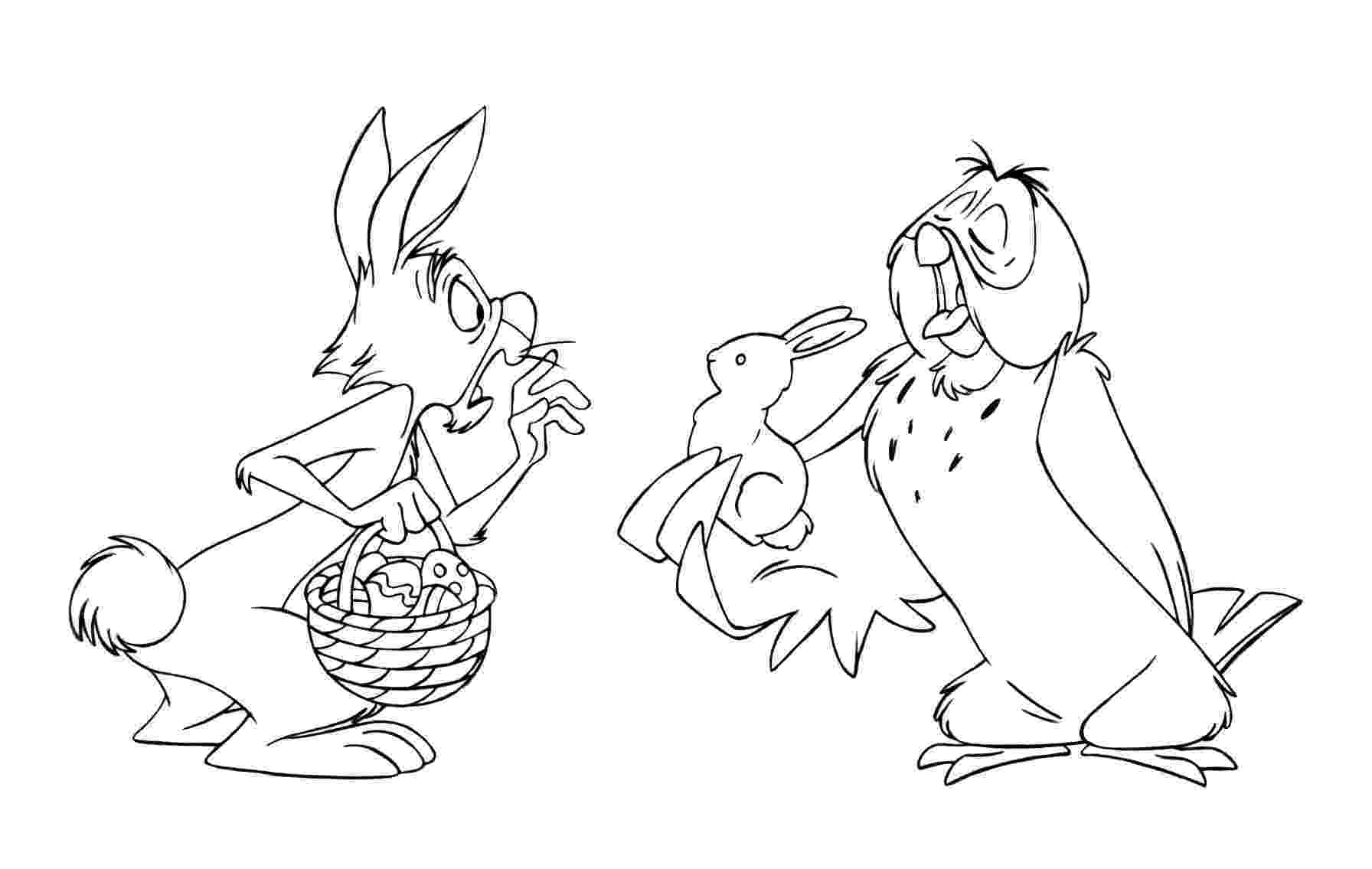 winnie the pooh easter coloring pages 17 best images about easter coloring pages on pinterest pooh easter winnie coloring the pages