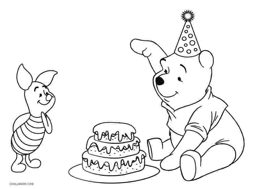winnie the pooh happy birthday coloring pages winnie the pooh birthday cake coloring page h m coloring happy birthday the pooh winnie pages