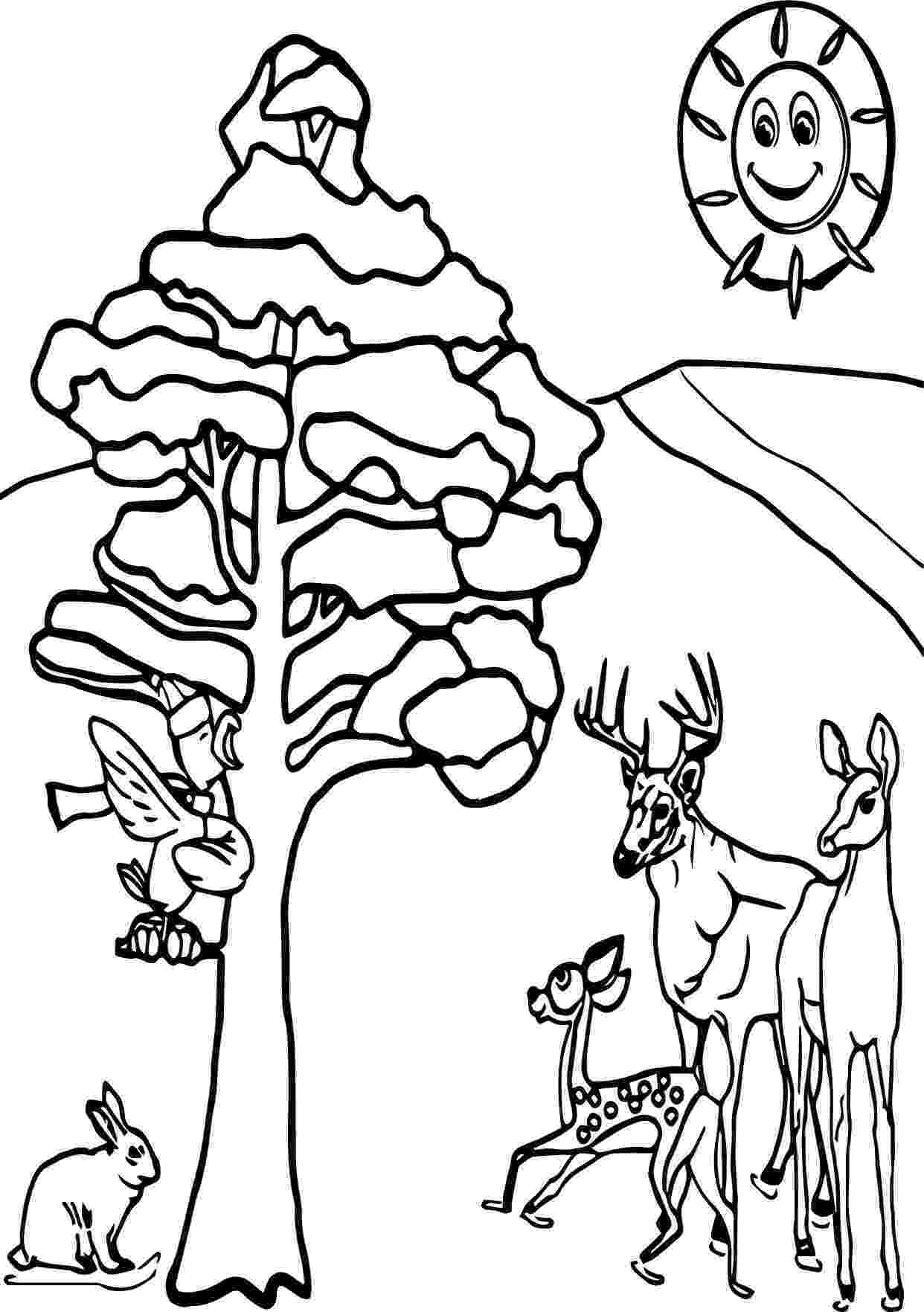winter animals coloring pages animals in winter printable worksheets sketch coloring page winter animals coloring pages
