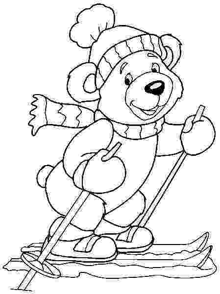 winter animals coloring pages rabbit in the snow winter animals coloring pages animals winter