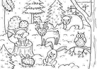 winter animals coloring pages winter coloring pages 360coloringpages winter pages coloring animals