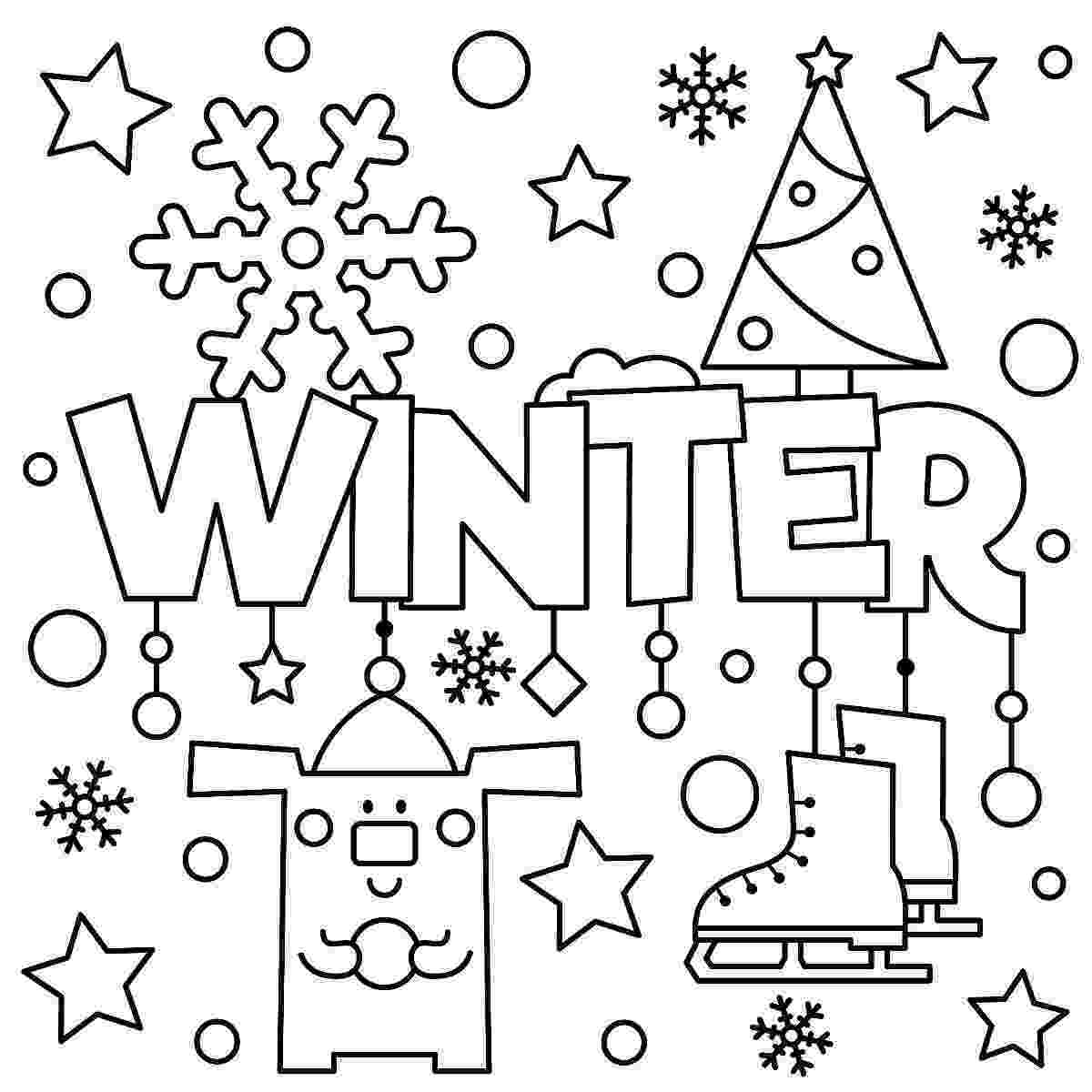 winter color sheets free winter coloring page artzycreationscom sheets color winter