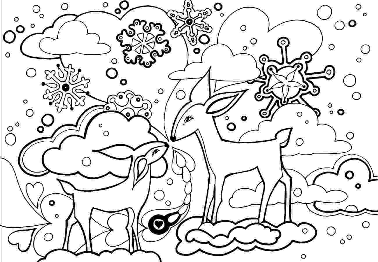 winter coloring book free printable winter coloring pages winter coloring book