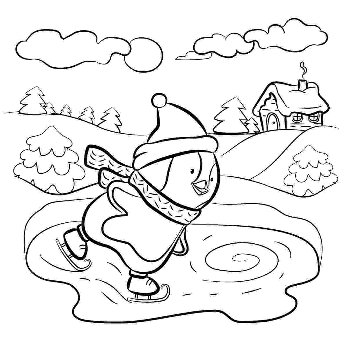 winter coloring book season and weather coloring pages momjunction winter coloring book