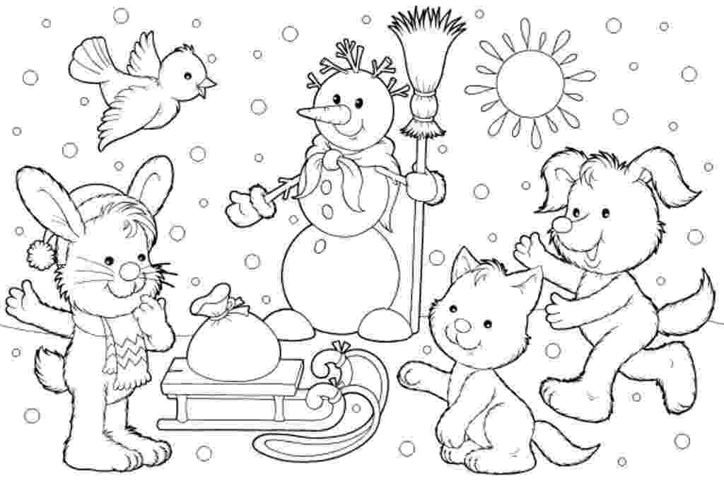 winter printable coloring pages free winter puzzle coloring pages printable winter themed free coloring winter pages printable