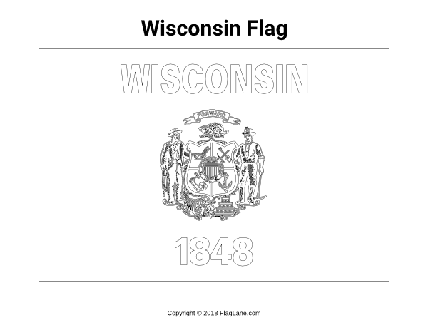 wisconsin state flag picture free flag coloring pages page 9 state wisconsin picture flag