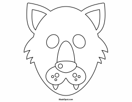 wolf cut out printable wolf head pattern use the printable outline for crafts cut printable out wolf