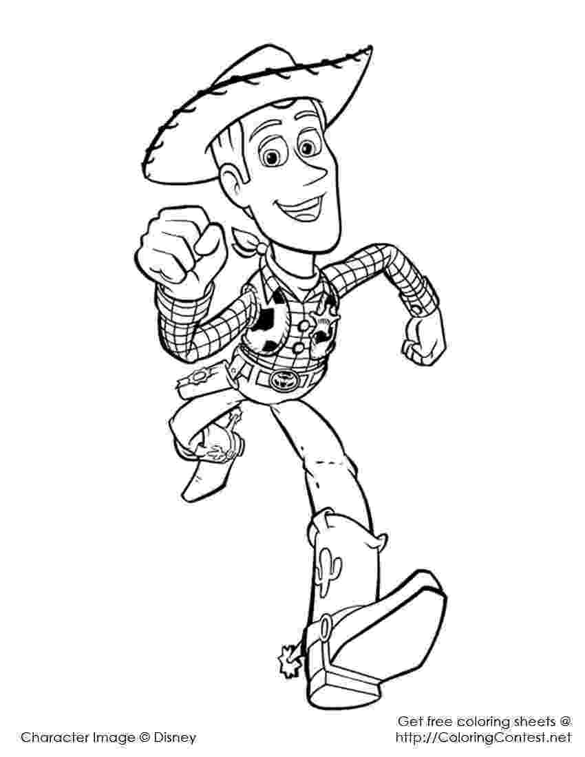woody coloring sheet woody running toy story kids coloring pages sheet woody coloring