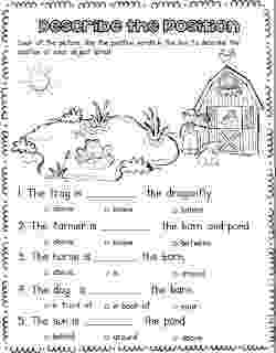 worksheet for grade 1 preposition force and motion position worksheet preposition 1 preposition worksheet for grade