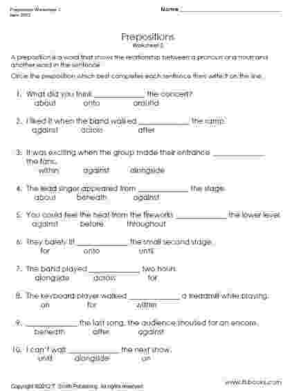 worksheet for grade 1 preposition grammar worksheets middle school homeschooldressagecom for grade 1 worksheet preposition