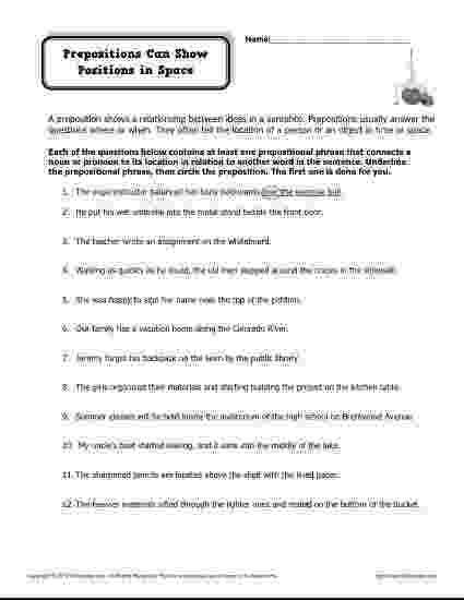 worksheet for grade 1 preposition preposition worksheet  prepositions can show position in for grade preposition worksheet 1