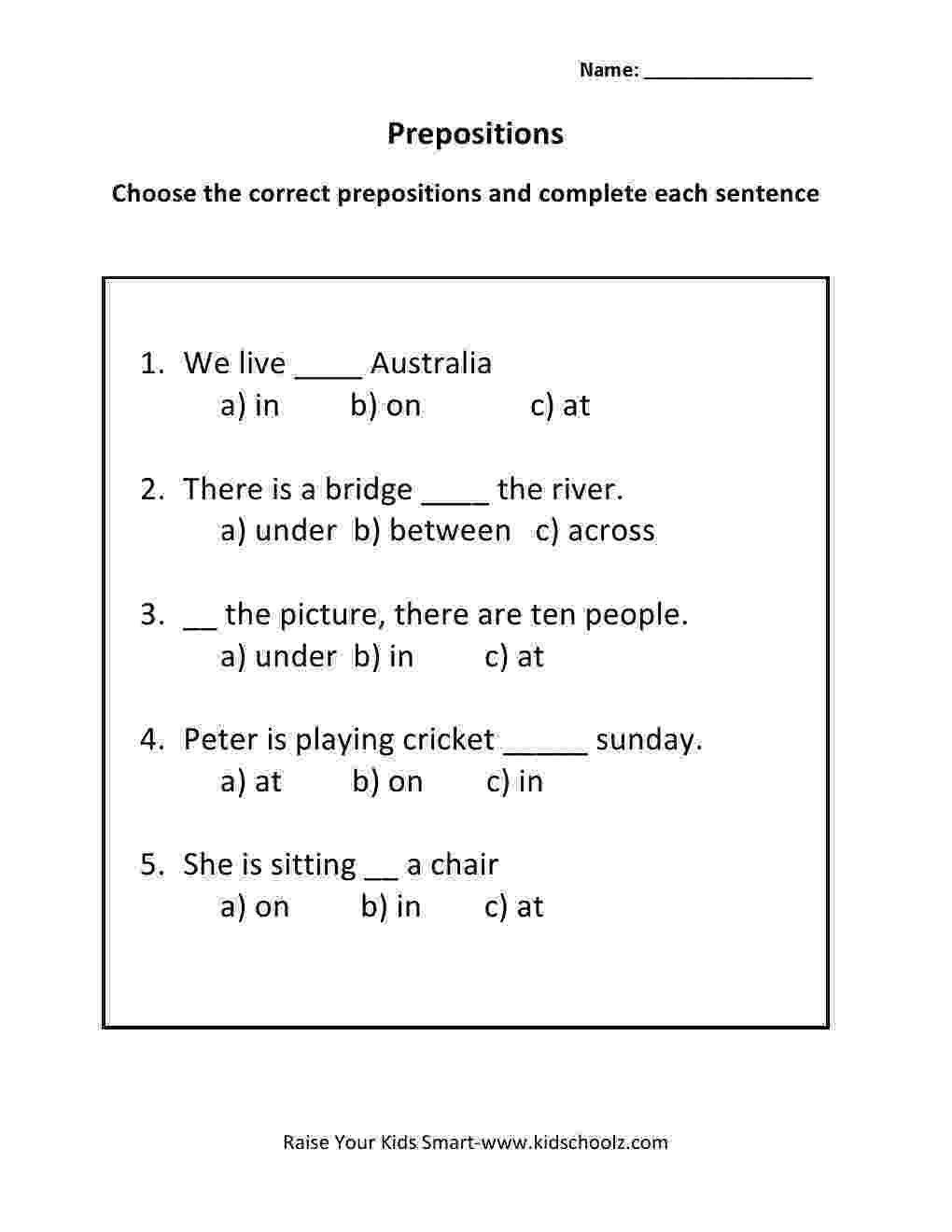 worksheet for grade 1 preposition preposition worksheets for grade 2 1 worksheet for preposition grade