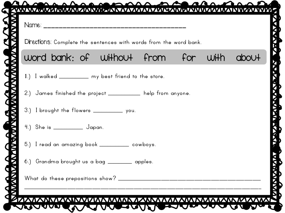 worksheet for grade 1 preposition what is a preposition printable worksheet ela middle worksheet 1 for preposition grade