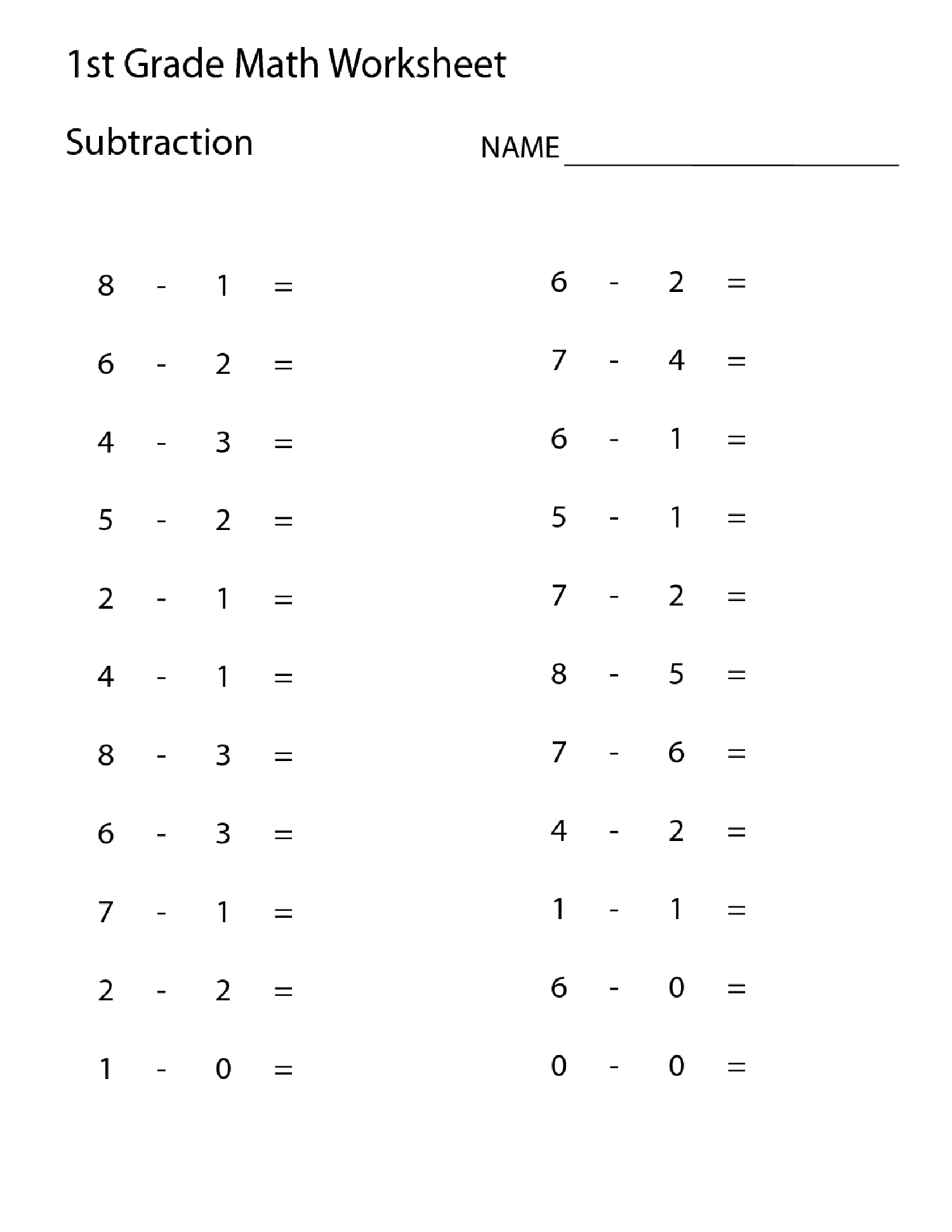 worksheets for grade 1 fun addition and subtraction fun challenge worksheets by miss for grade fun 1 worksheets