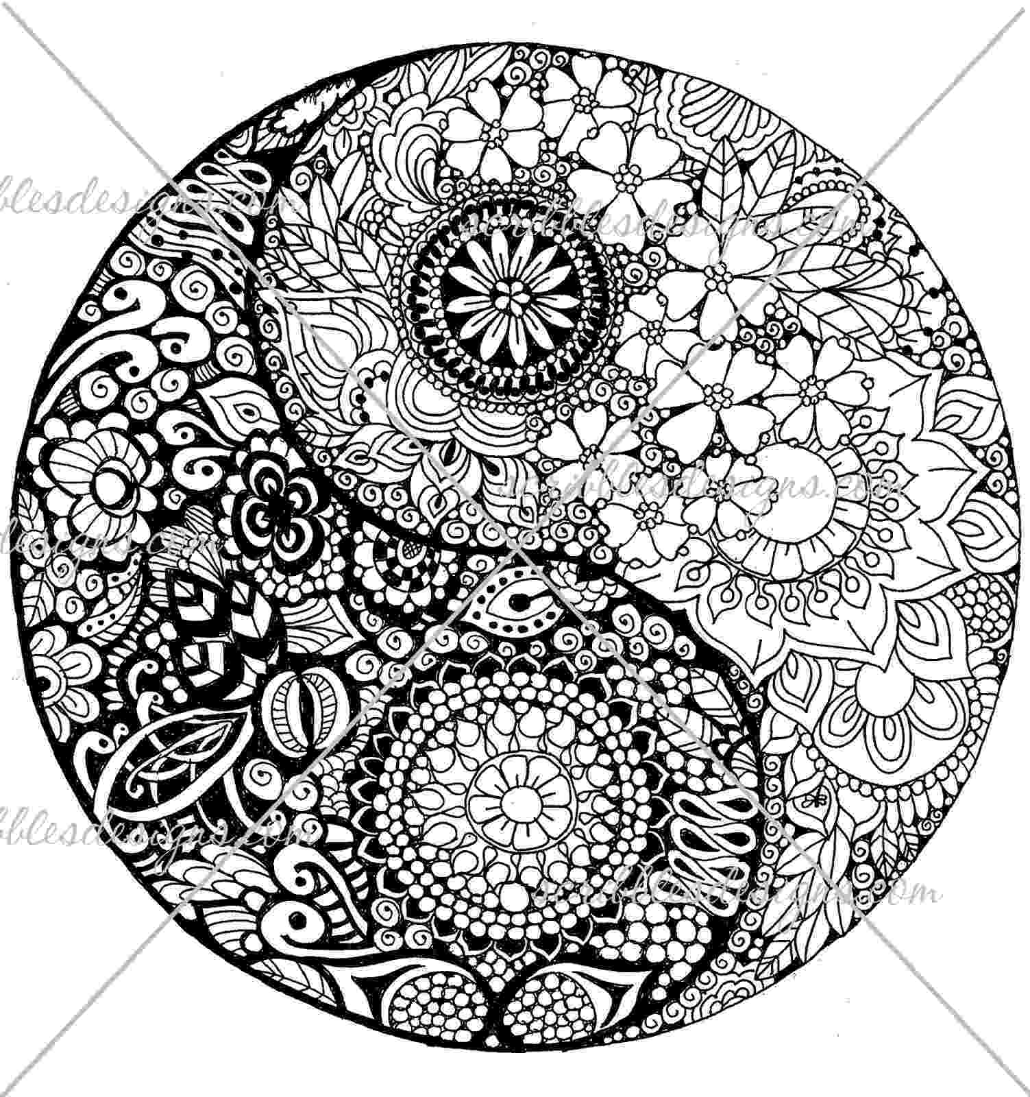 ying yang coloring pages scribbles designs a 50 flower ying yang 1 500 ying coloring yang pages