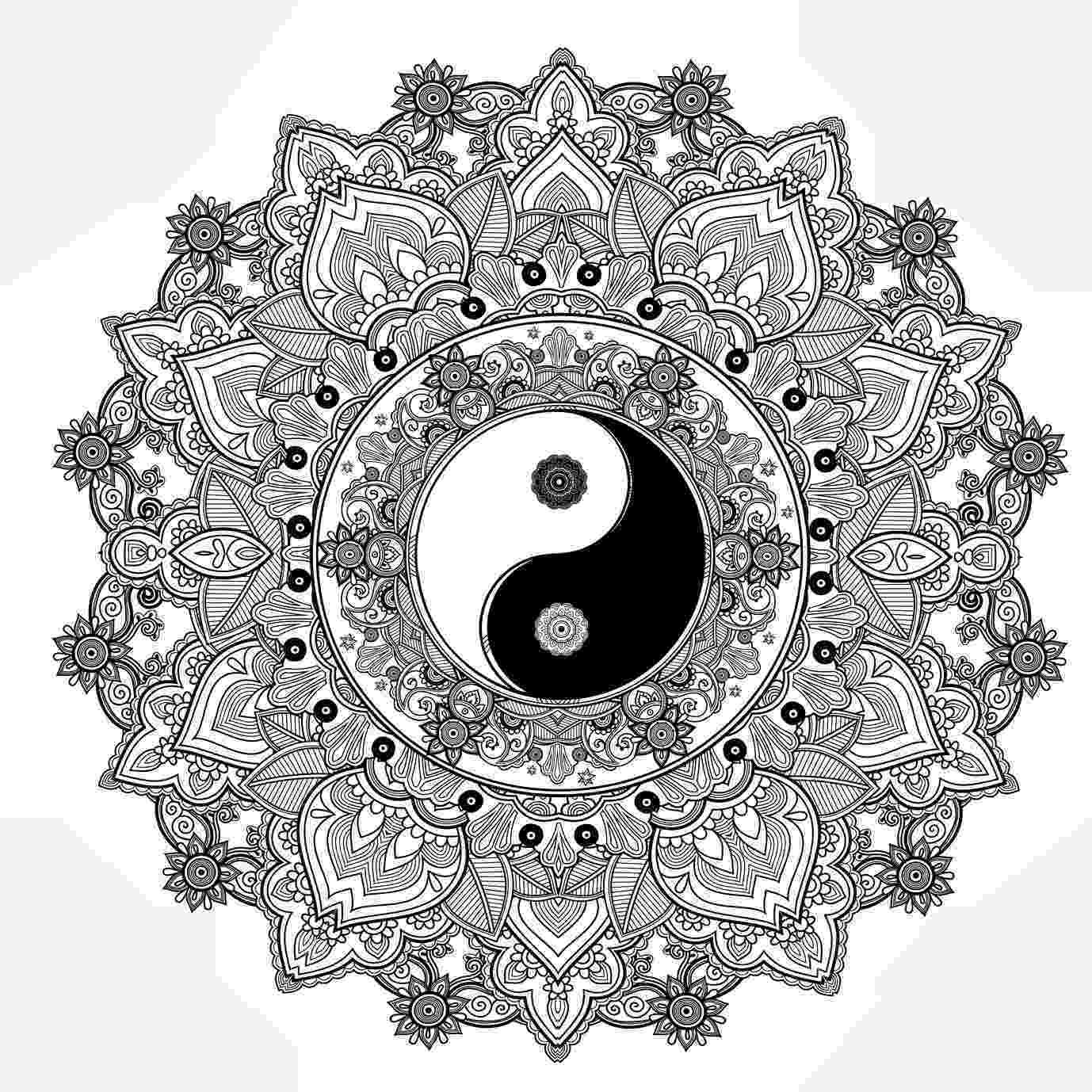 ying yang coloring pages yin y yang ϓᎥᑎϓᗋᑎ゚ ԑɜmandala para pages ying yang coloring