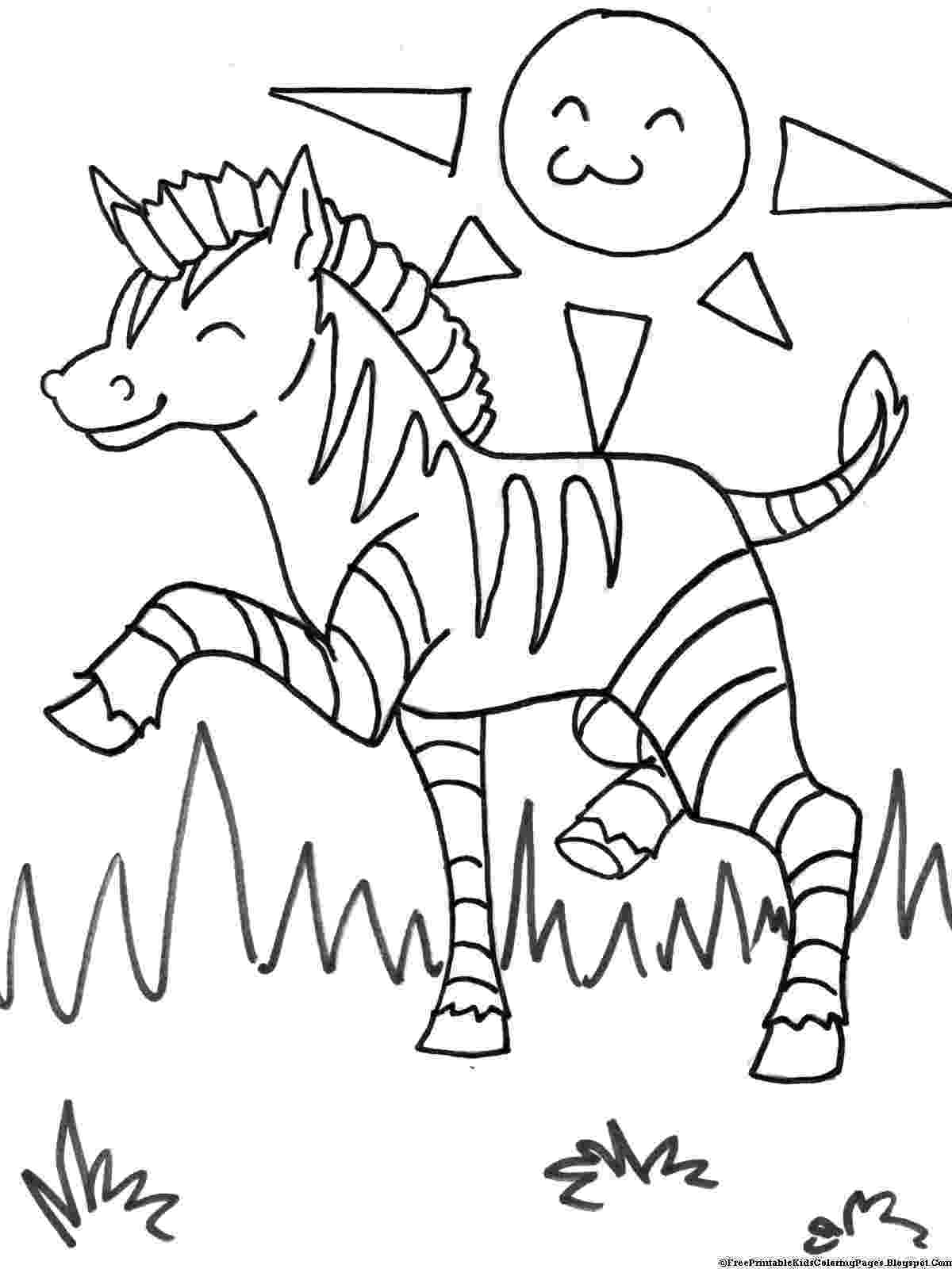 zebra to colour zebra coloring pages free printable kids coloring pages colour to zebra