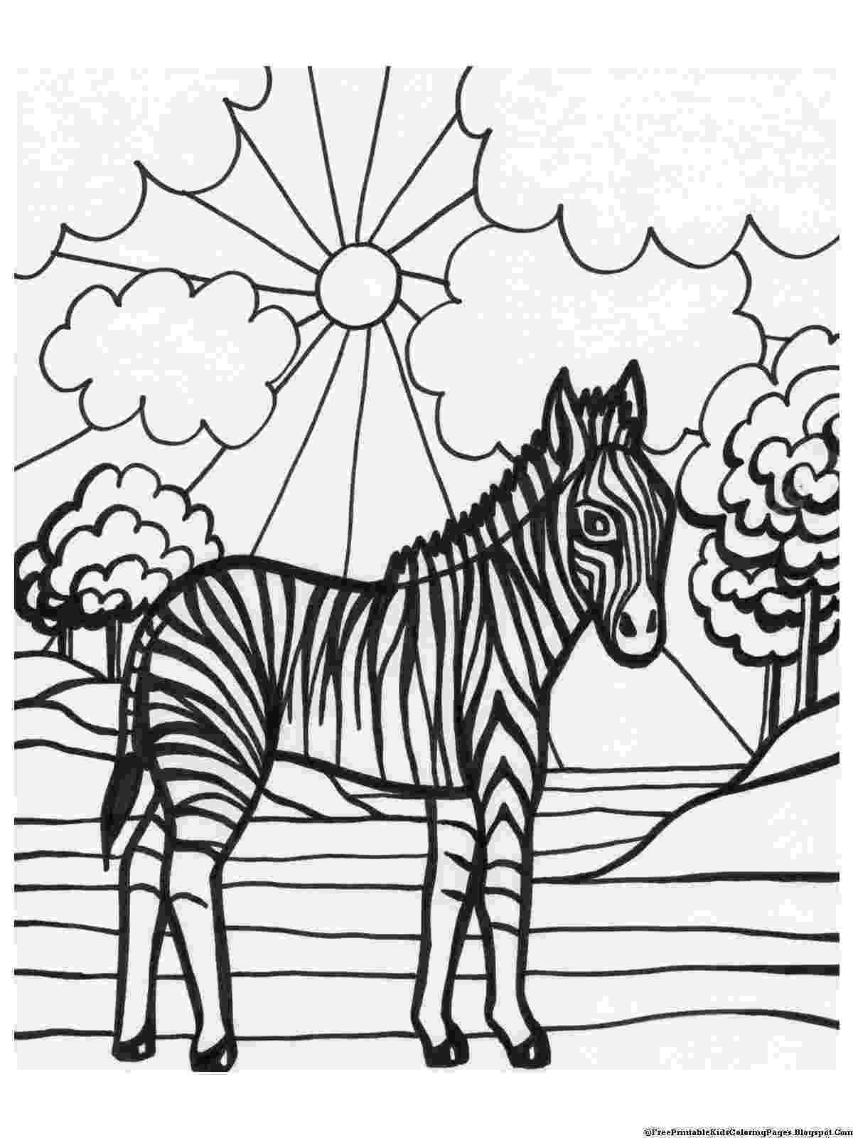 zebra to colour zebra coloring pages free printable kids coloring pages zebra to colour