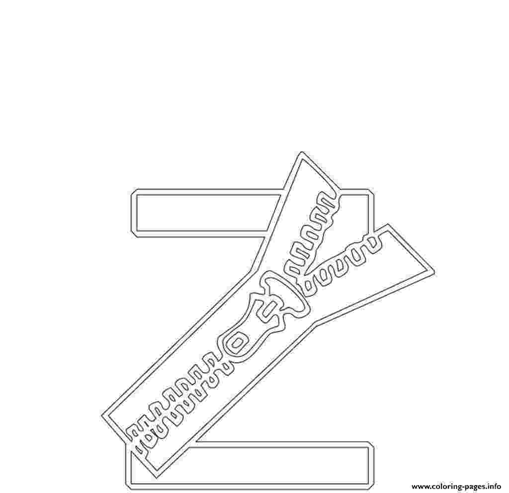zipper coloring page alphabet coloring page letter z zipper printables for coloring zipper page