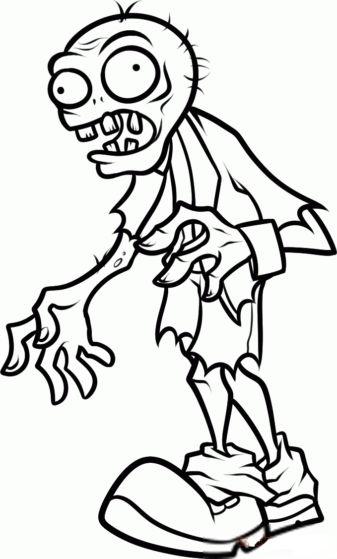 zombie coloring page plants vs zombies coloring pages to download and print for zombie page coloring