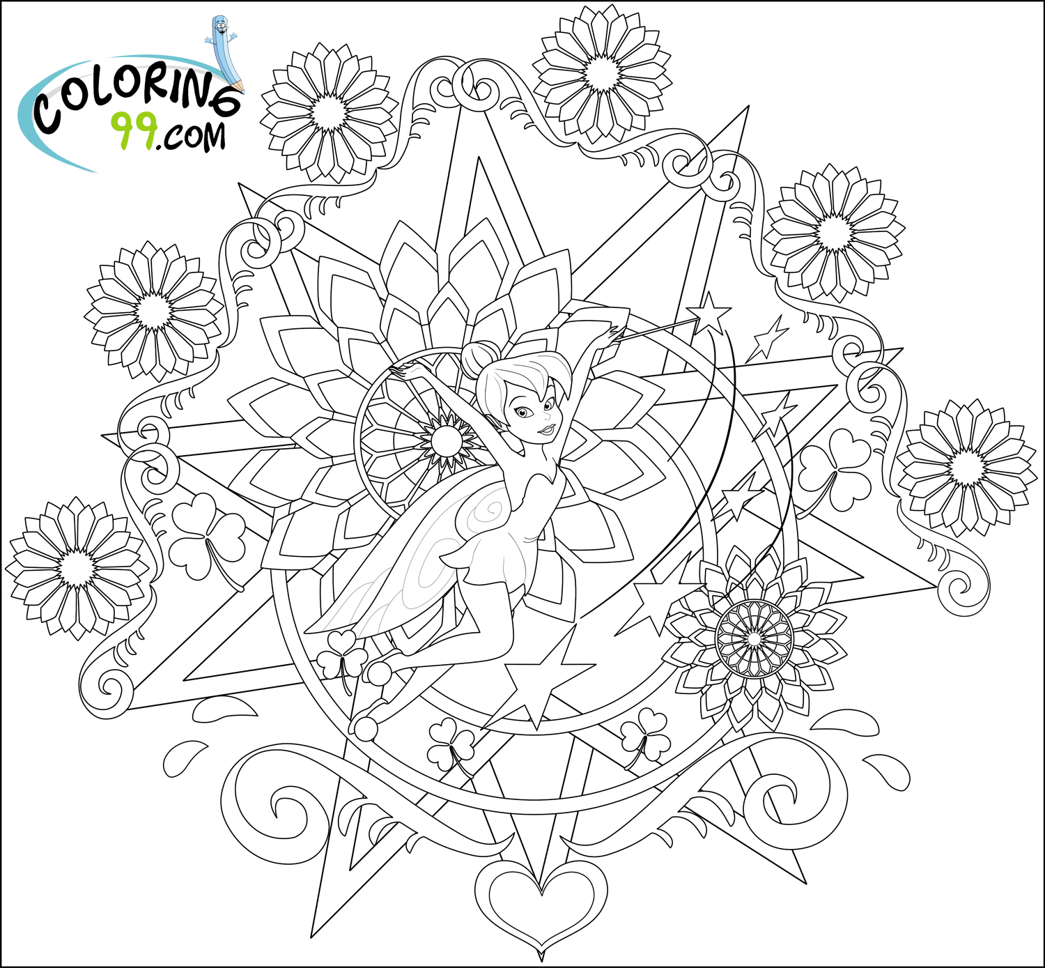 tinkerbell coloring fairy coloring pages tinkerbell coloring