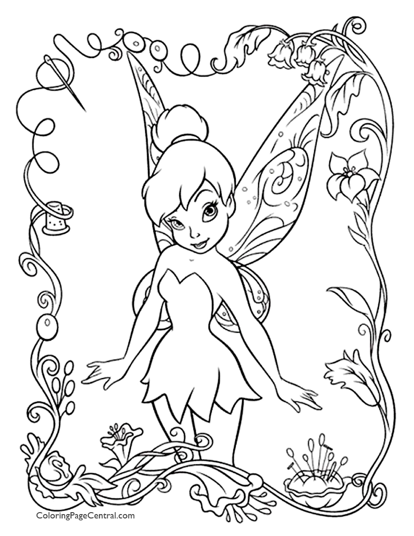 tinkerbell coloring tinkerbell coloring pages coloring tinkerbell 1 3